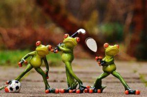 テニス、ゴルフ、サッカー